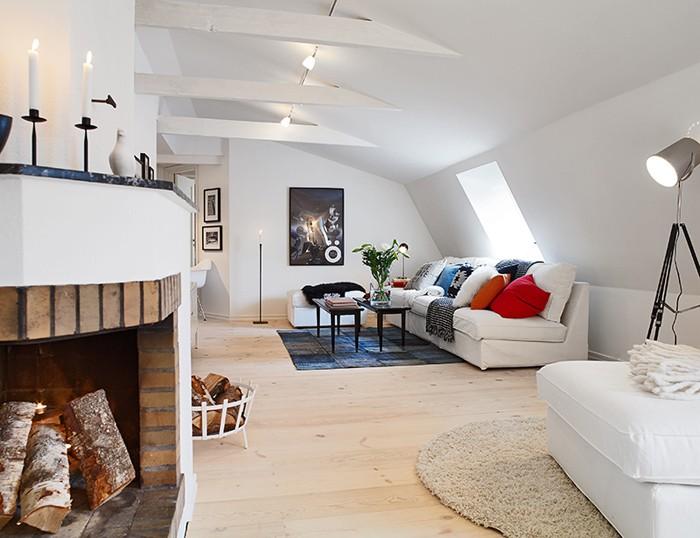 Дизайн квартиры в мансарде