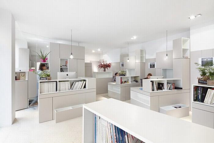 Белый  Мебель для креативных и высокофункциональных офисных площадей в Париже