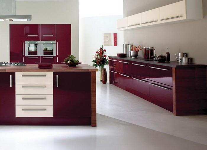 Фиолетовый Красный  Винные тона в интерьере квартиры