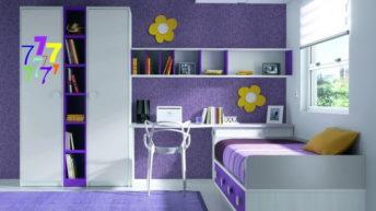 Фиолетовый цвет в детской