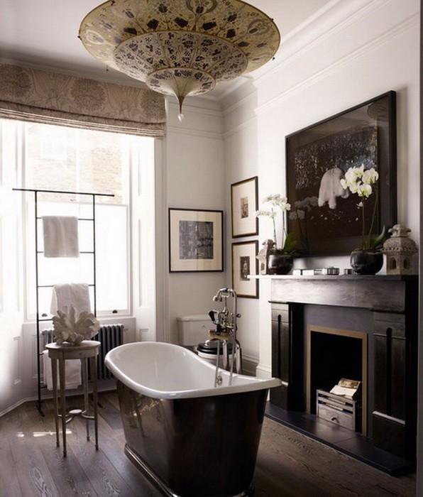 Камин в ванной комнате