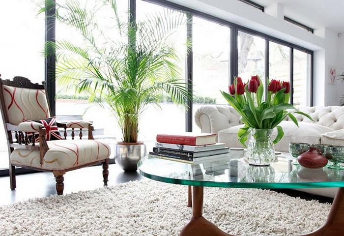 Уютный интерьер большого дома