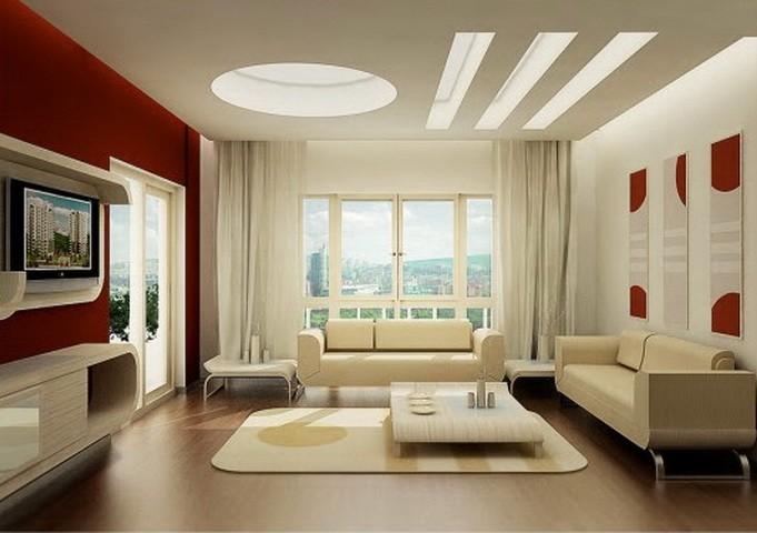 Красный  Красная гостиная