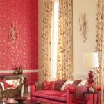 Красный цвет для интерьера гостиной
