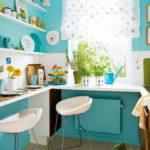 Идеи для интерьера кухни в бирюзовом цвете