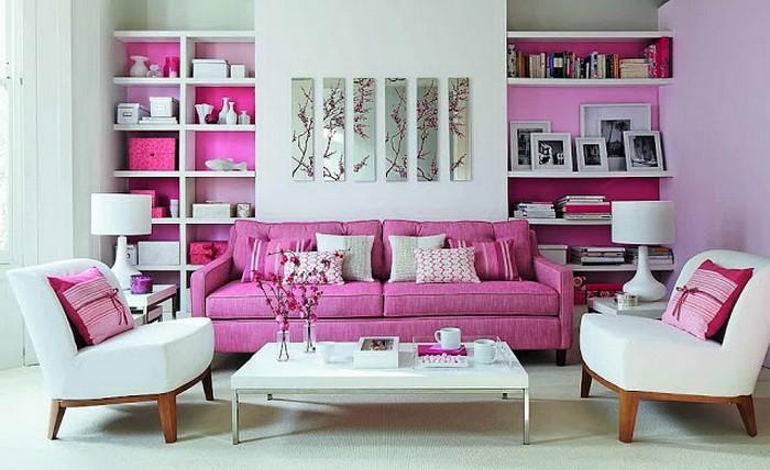 Розовый  Розовая гостиная