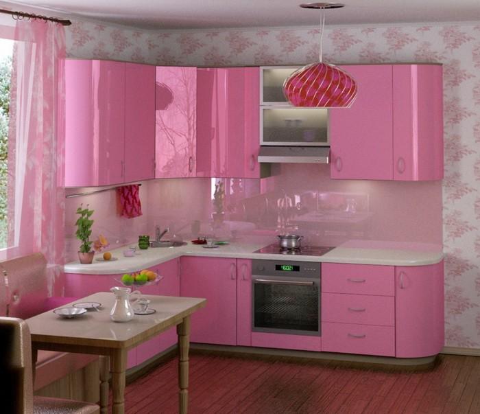 Розовый  Розовый на кухне