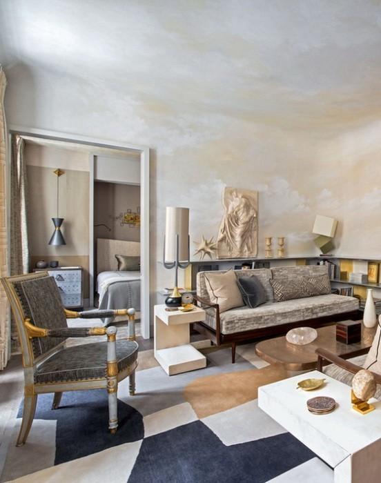 Дизайн небольшой квартиры: золото в интерьере