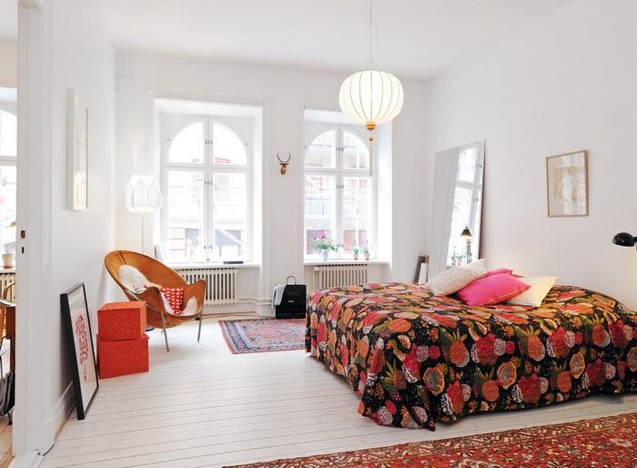 Скандинавский стиль  Спальни в скандинавском стиле