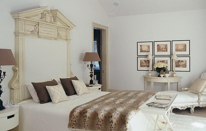 Коричневый Бежевый  Спальня в коричневых тонах