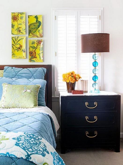 Цветные спальни