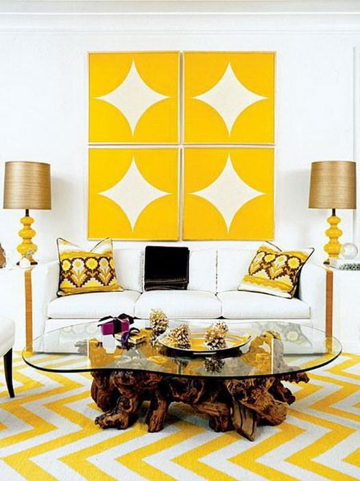 Желтый  Желтая гостиная