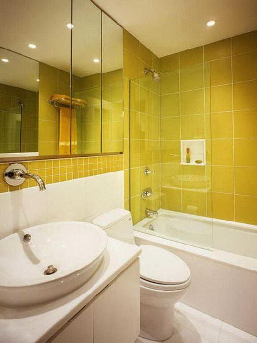 Желтый  Желтая ванная комната