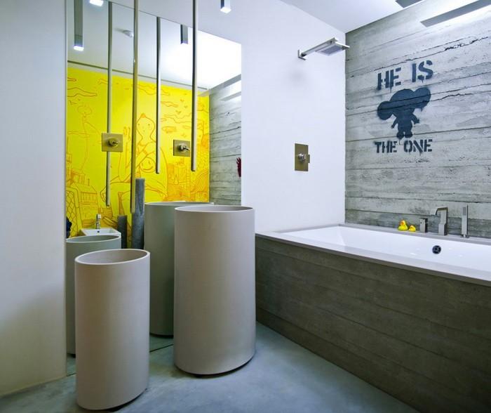 Эклектика в ванной комнате_14