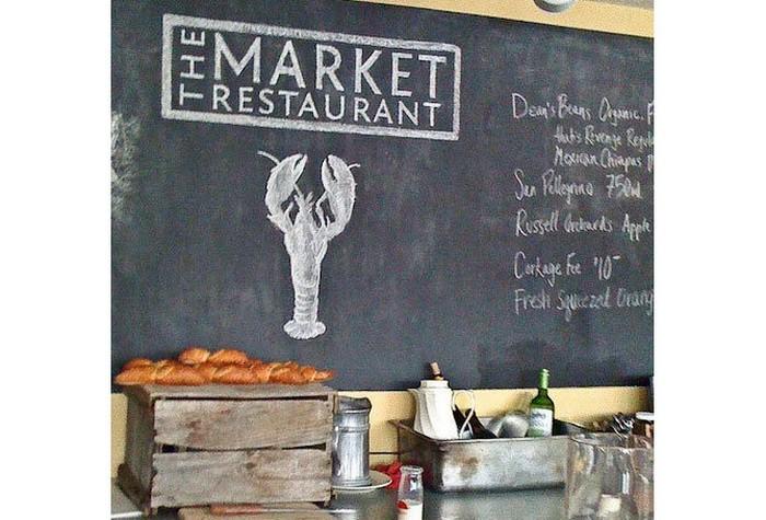 Грифельная доска в кафе: примеры и интерьеры