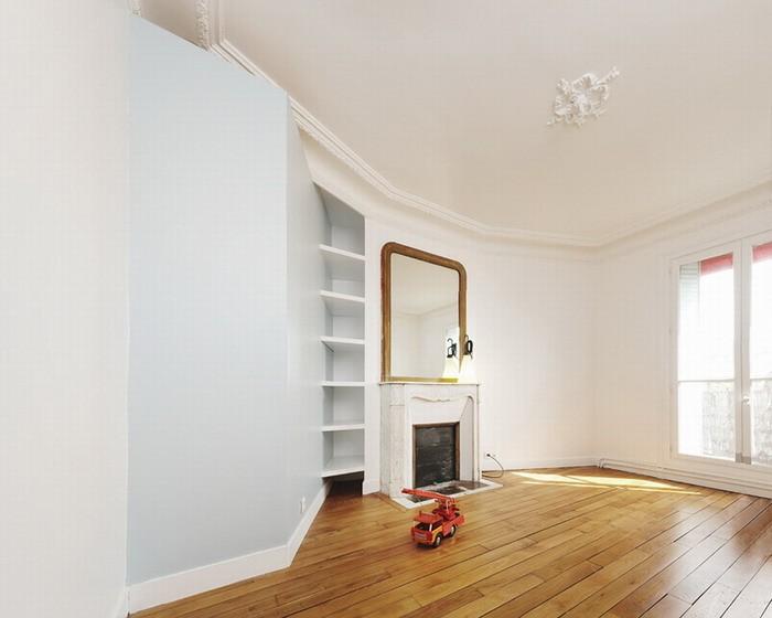 Белый  Парижская квартира