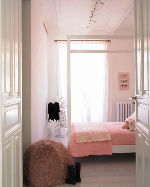Розовый  Розовая спальня принцессы