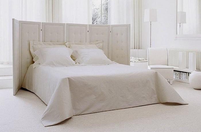 Белый  Спальная комната в белом