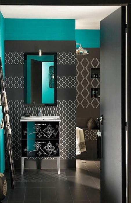 Яркий  Яркие ванные комнаты