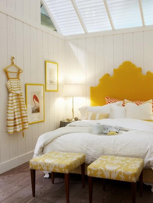 Желтый  Желтая спальня