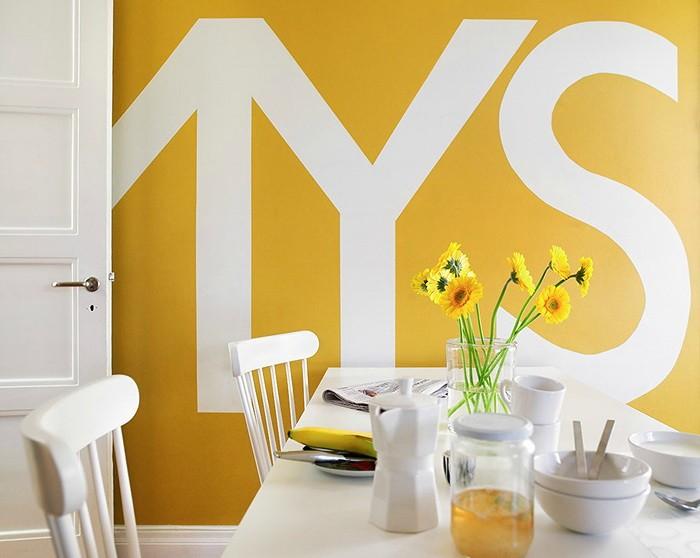 Желтый цвет в кухне