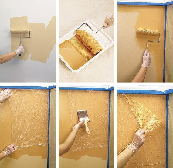 фото варианты покраски стен