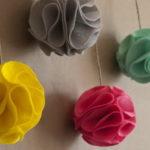 Декоративные шары из фетра своими руками