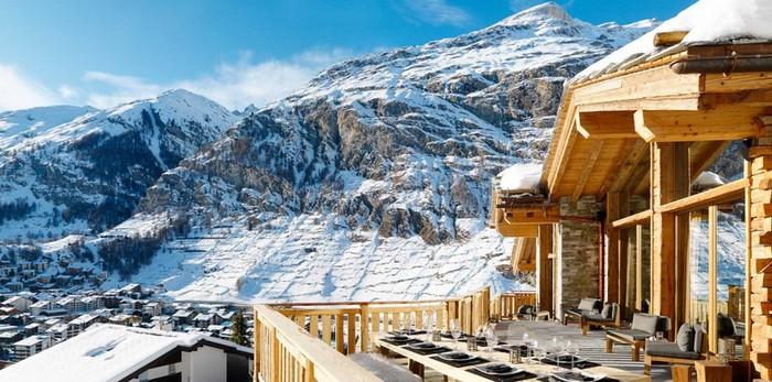 Дизайнерские террасы на горнолыжных курортах