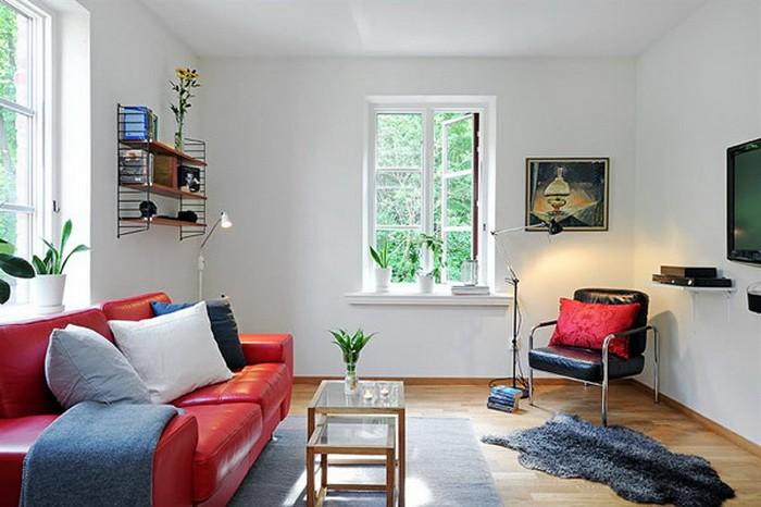 Скандинавский стиль  10 очаровательных гостиных в скандинавском стиле