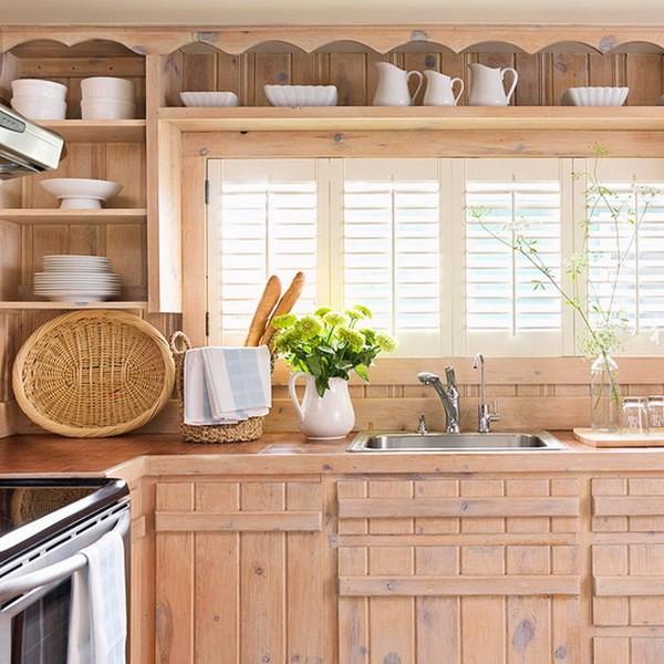 Интерьер кухни с деревенскими мотивами