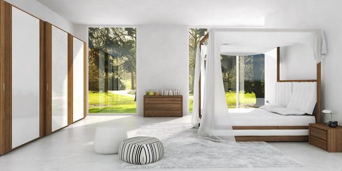 Минимализм  Интерьер спальни в стиле минимализм
