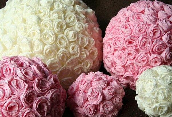 Красивый цветочный шар