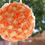 Цветочный шар из гофрированной бумаги своими руками