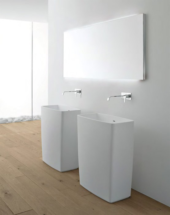Минимализм  Ничего лишнего   минимализм в ванной