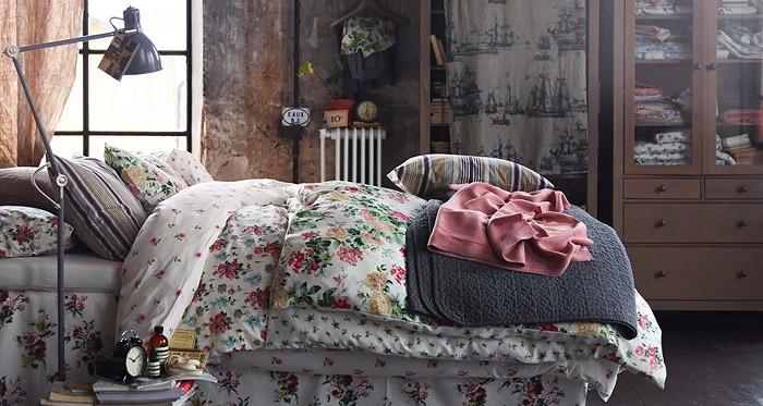 Винтаж  Спальни с винтажными элементами