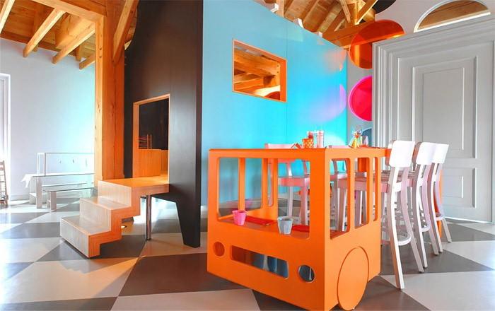 Яркий  Яркие интерьеры детских комнат
