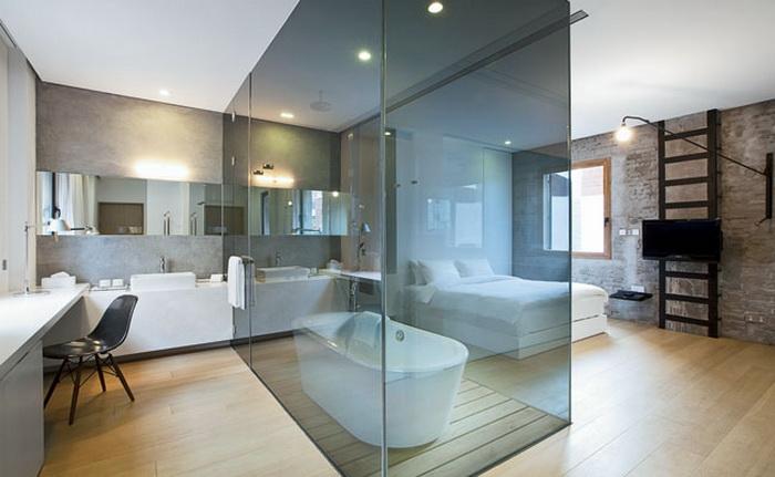 Объединенные ванная и спальня_08