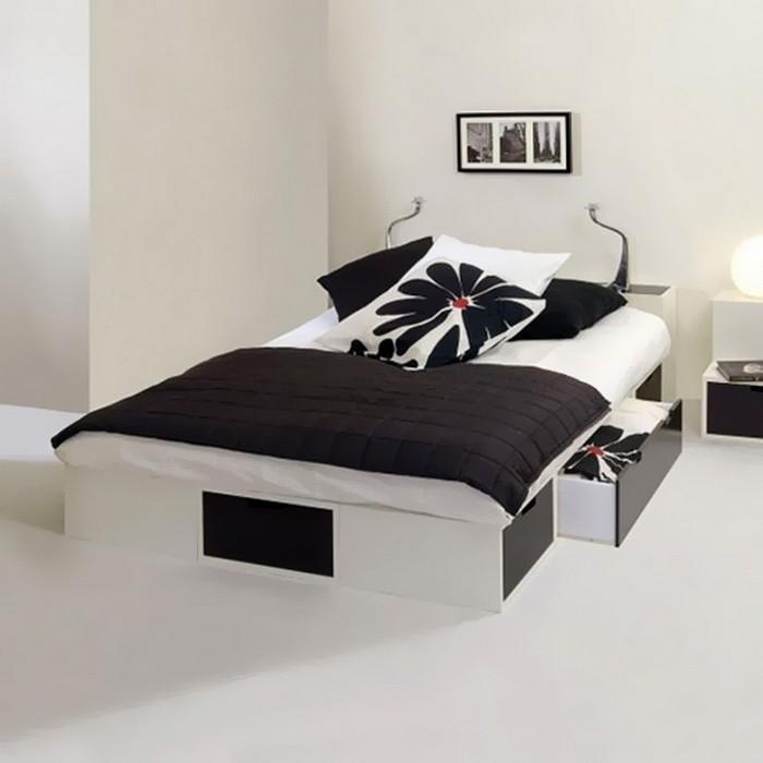 Кровать черно белая фото