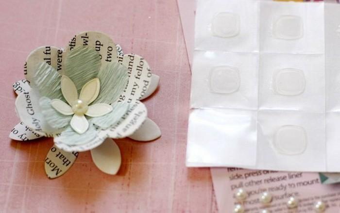 Декор бумажного абажура