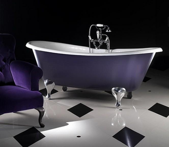 Фиолетовый  Фиолетовый цвет в интерьере ванной комнаты