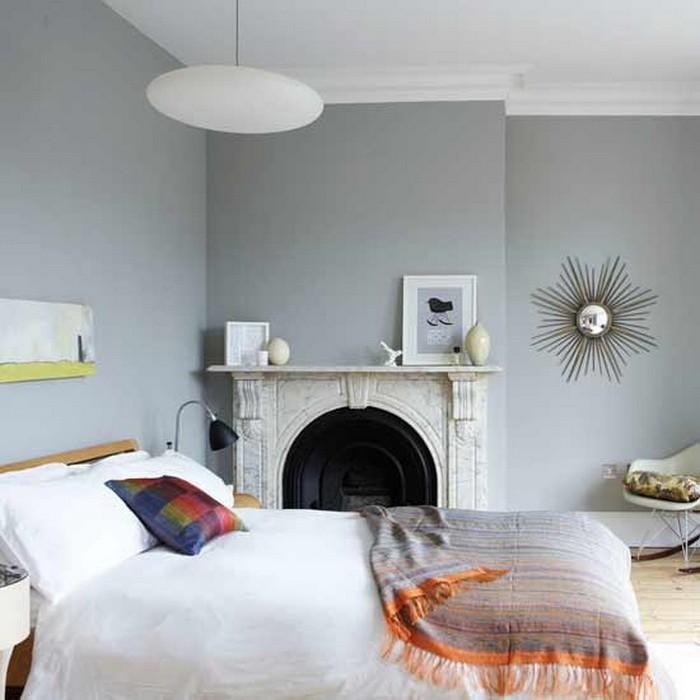 Серый  Интерьеры спален в серых тонах