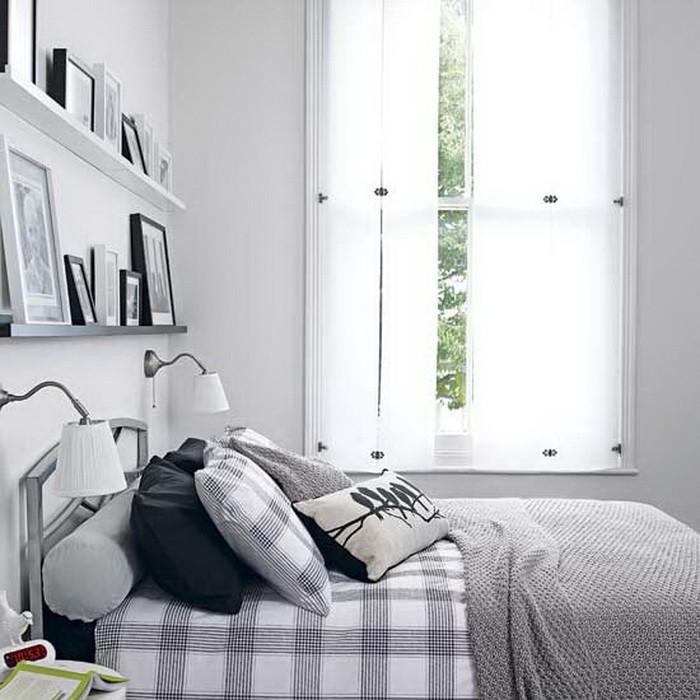 Интерьеры спален в серых тонах