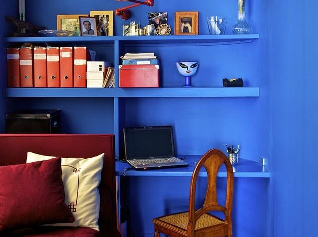Синий  Синий в интерьере