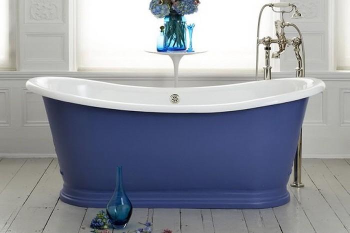 Синий Голубой  Ванные в голубом и синем цвете