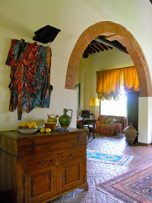 Средиземноморский интерьер дома. Вилла в Тоскане