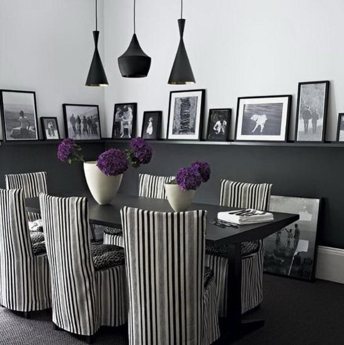 Черное и белое  Черно белые гостиные