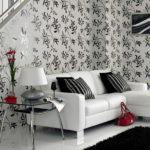 Черно-белые гостиные
