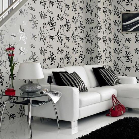 Черное и белое  Черно белый интерьер кухни со столовой