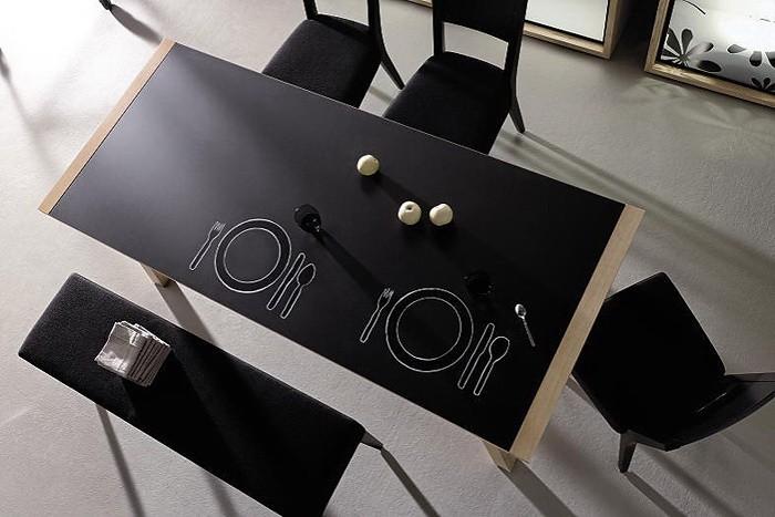 Черное и белое  Чёрно белая столовая