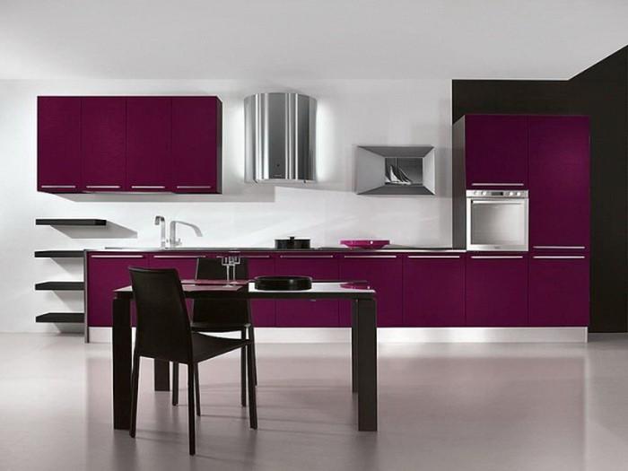Фиолетовый цвет в интерьере кухни_08